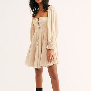 Free People How About You Mini Dress French Linen